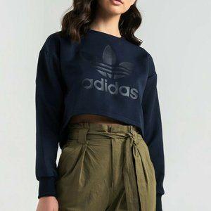 Adidas Originals Size S Cropped Trefoil Sweatshirt